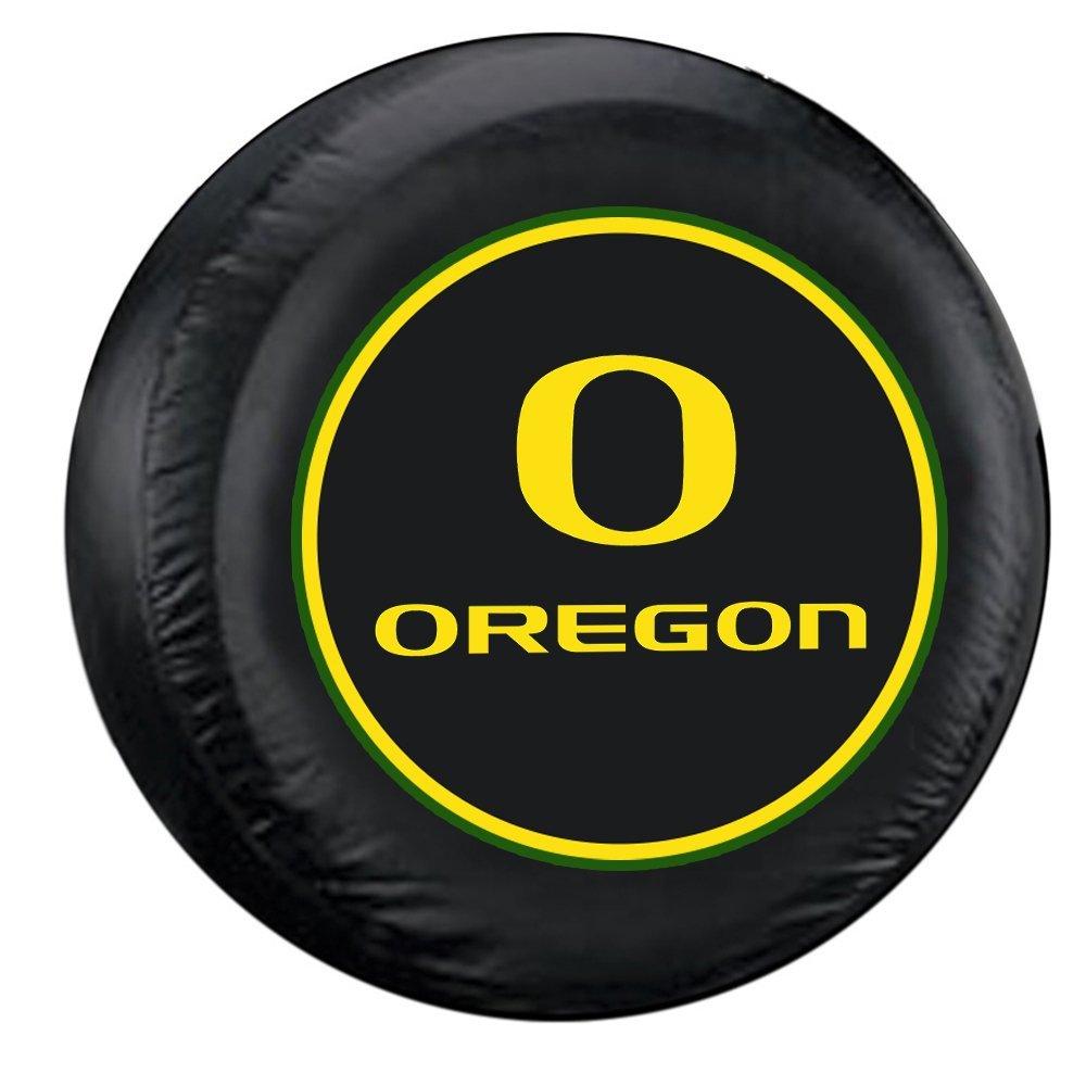 Oregon Ducks Black Spare Tire Cover Fremont Die