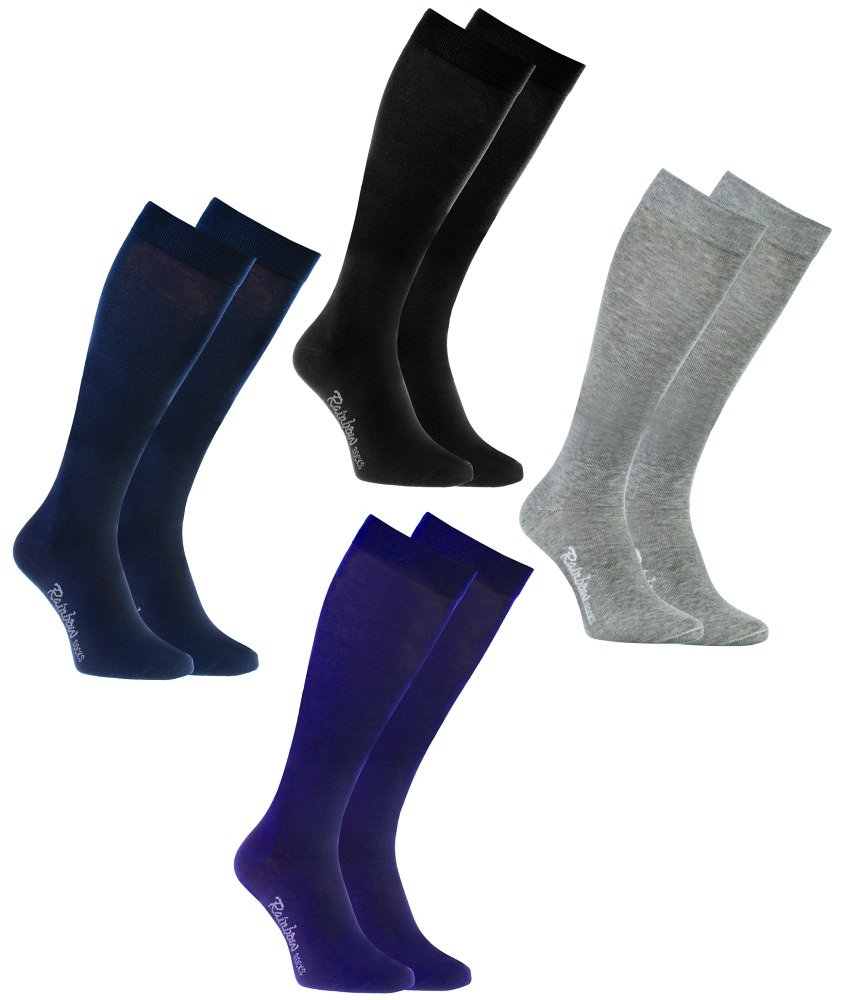 Rainbow Socks Calcetines LARGOS by ALGODÓN Peinado, PAQUETE Calcetines Hasta Rodilla Modernos para Todos los Días, Cómodos y Delicados   Para Mujeres y Hombres, Hecho en Europa product image