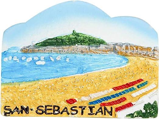 zamonji Playa de San Sebastian, España 3D Imanes para Refrigerador Imán de Nevera Fridge Magnet Viaje Souvenir: Amazon.es: Hogar