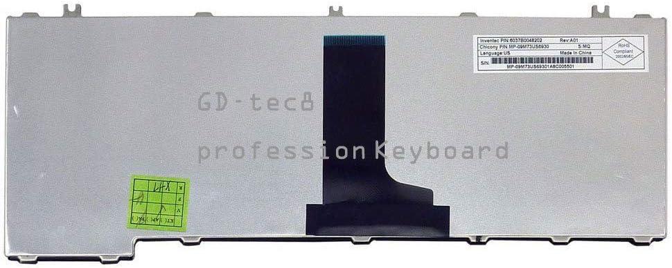 Laptop Keyboard Compatible for Toshiba Satellite C645D-SP4248L C645D-SP4251L C645D-SP4278M C645D-SP4279M C645D-SP4282M C645D-SP4283M C645D-SP4165M US Black