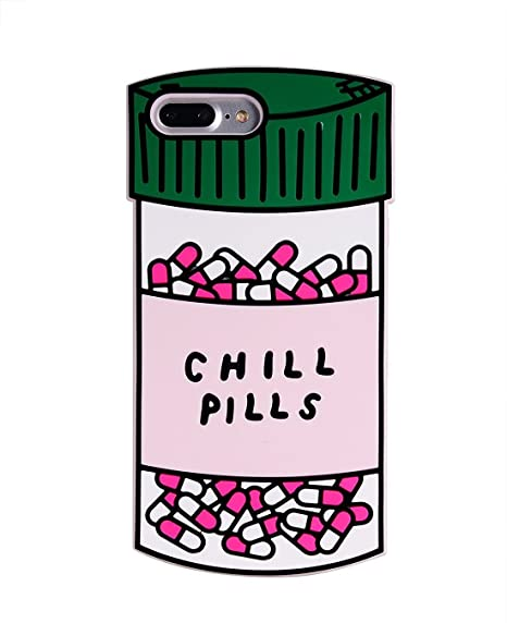 615657573 3D Green Chill Pills Case for iPhone 7Plus   8Plus Large Size Thick Soft  Silicone Gel