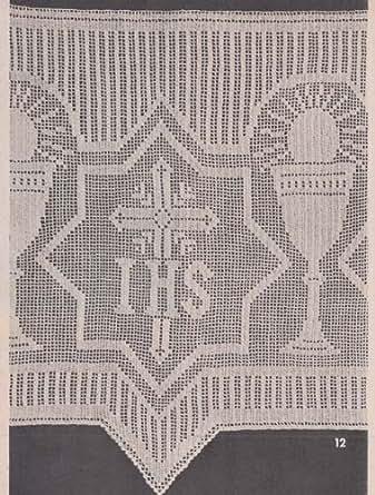 Altar Cloth Edging Filet Crochet I.H.S. Church Lace