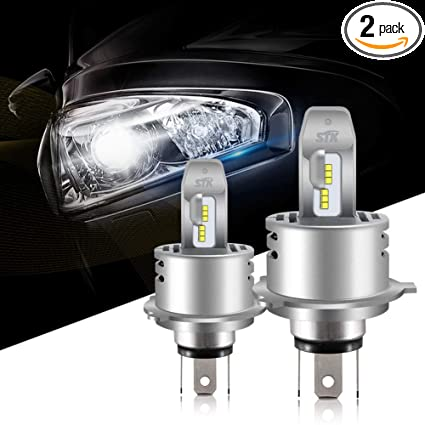 Led Replacement Headlight Bulbs >> H4 9003 Led Headlight Bulb 12000lm Lumileds Chips Extremely Bright 6500k Cool White Hb2 Hi Lo All In One Anti Flicker Conversion Kit Halogen