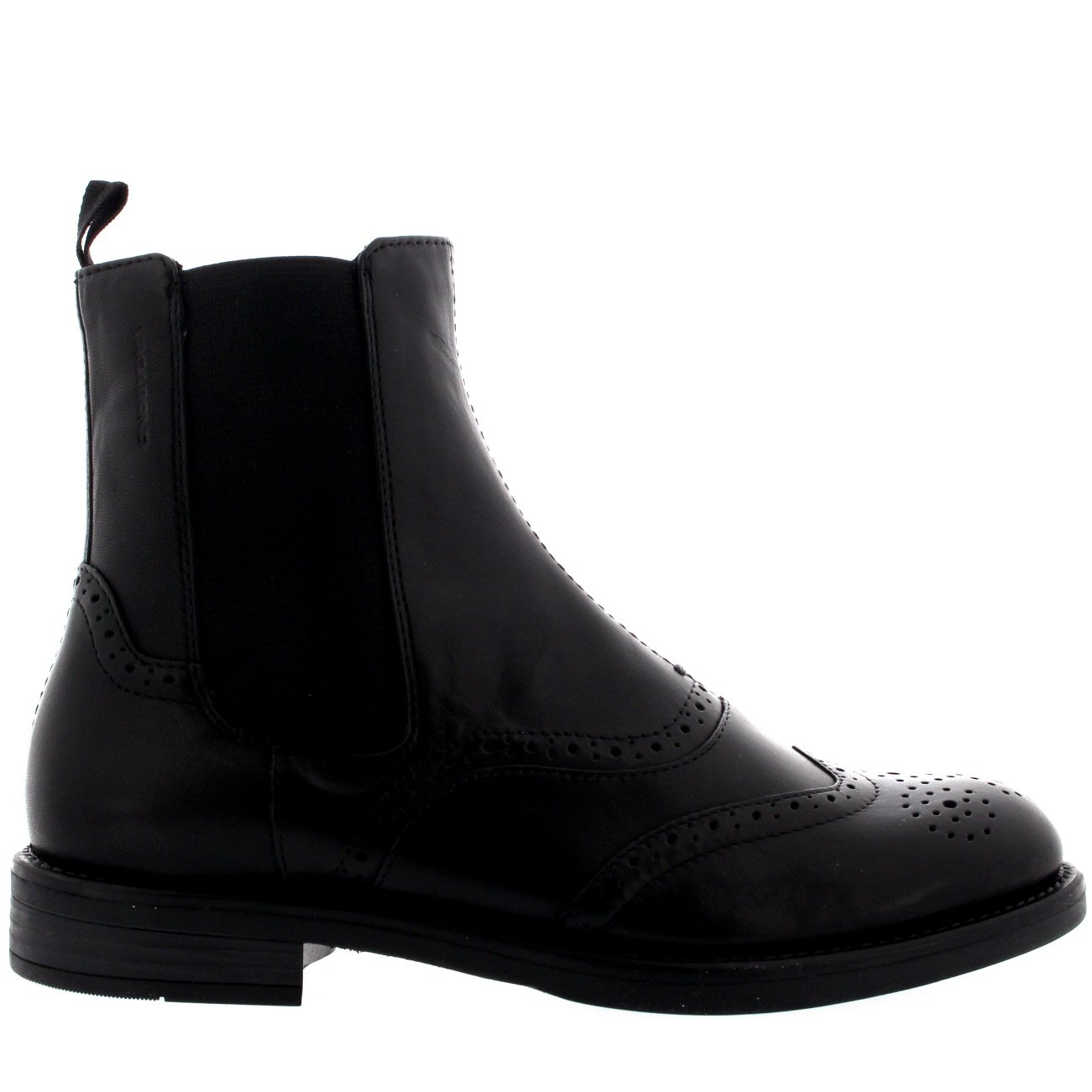 9e57c4f416817 Amazon.com | Womens Vagabond Amina Leather Casual Brogue Black Ankle  Chelsea Boots | Ankle & Bootie