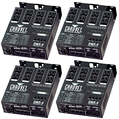 Chauvet 4 Channel DJ Dimmer/Switch Relay Pack Light Controller (4 Pack) DMX-4