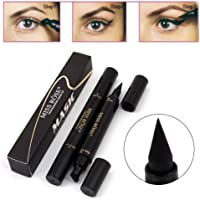 Niome Black Double-ended Eyeliner Pen With Eyeliner Stamp Liquid Quick Dry Not Faint