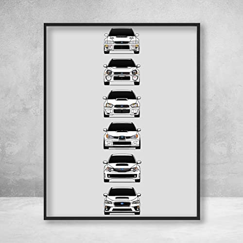 Amazon.com: Subaru WRX STI Poster Print Wall Art of the ...