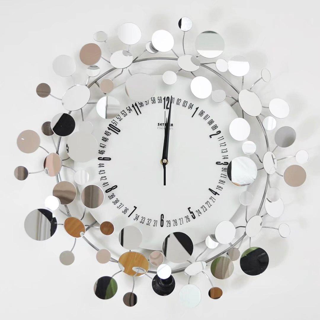 ファッション 掛け時計 アイアン 創意 モデリング 装飾 満天星 アート スタイル 鐘 柱時計 時計 EBODONG B07C6BGQNL