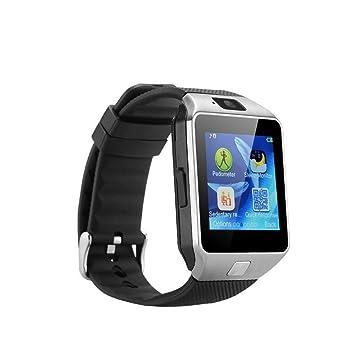 Reloj Bluetooth Smart DZ09 AGPtek con pantalla táctil LCD de 4 cm 240x240 píxeles SIM / Speicherkartenschilitz para Android, reproductor de música, ...