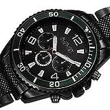 August Steiner Men's AS8119BK Swiss Quartz Multifunction Black Dial Gun Bracelet Watch