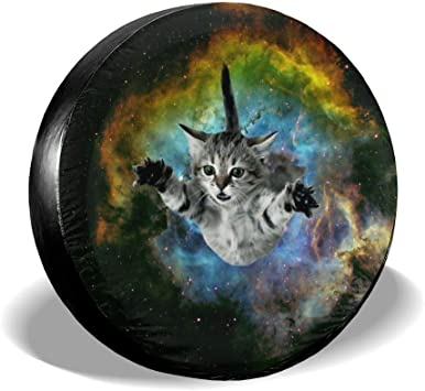 xulih Tire Covers Galaxy Cat Big Eyes Universal Spare Tire Cover Tire Protectors