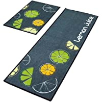 Set of 2 Lovely Fruit Pattern Bibulous and Skidproof Kitchen Mat Room Mat