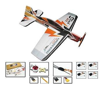 DW Hobby RC Glider EPP Foam Airplane Sbach 342 Aerobatic Flying