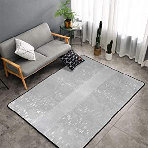 Christmas Area Rug Carpet Grey Large Door Mat,Vertical Wavy Lines with Festive Little Dots and a Bold Border Christmas Celebration, Silver White