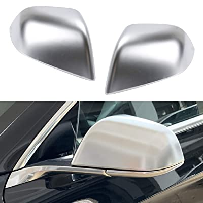 ROCCS Tesla Model 3 Side Mirror Cover, ABS Plastic Chromous Cover Outside Mirrors Cap Replacement, Pack of two: Automotive