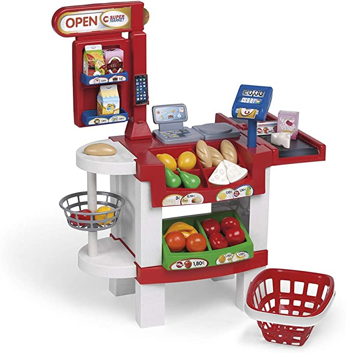 Chicos - Supermercado Shopper Deluxe, Tienda de Juguete con Sonido y 30 Accesorios Incluidos, a P...