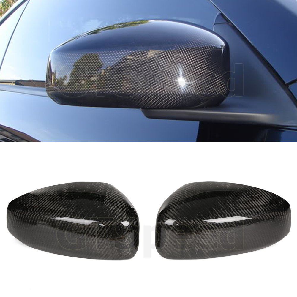GTSpeed Made for 03-07 Infiniti G35 Coupe 2Dr Only JDM Gloss Carbon Fiber CF Side Mirror Covers Caps (WILL NOT FIT Sedan 4-Door)