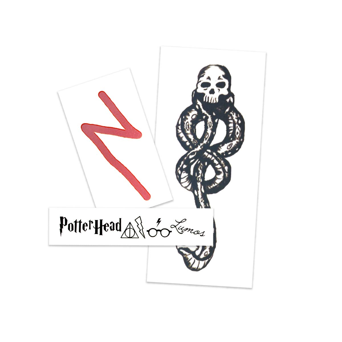 Harry Potter Pack Temporary Tattoos   Skin Safe   MADE IN THE USA  Removable