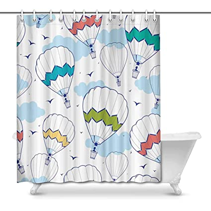 Beau Image Unavailable. Image Not Available For. Color: InterestPrint Colorful Hot  Air Balloons Bathroom Decor ...