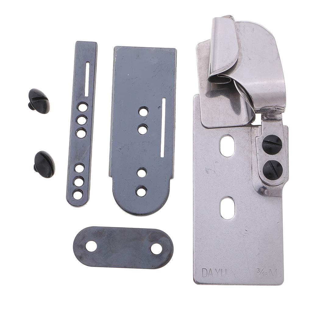 1//4M Prettyia Lap Seam Folder 1//4M 3//16MH 1//4MH 3//16M for Double Needle Lockstitch//Chainstitch Sewing Machines