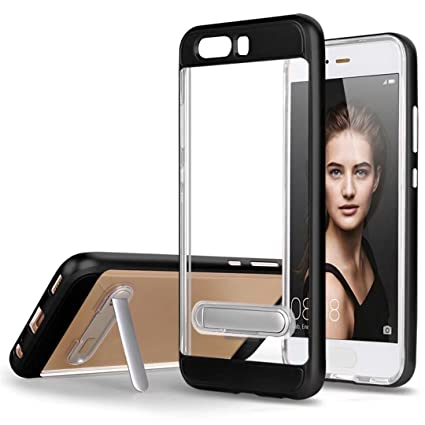 Funda Huawei P10 Silicona Negro parachoque TPU Transparente Claro Brillante Super Delgado Suave Carcasa de telefono Protección por JOYTAG