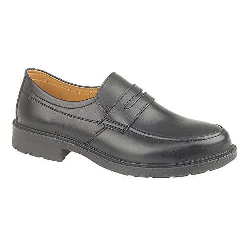230ff02eed2 New Mens Amblers Steel FS46 Safety Slip-On Shoes Gents Leather Footwear  Black