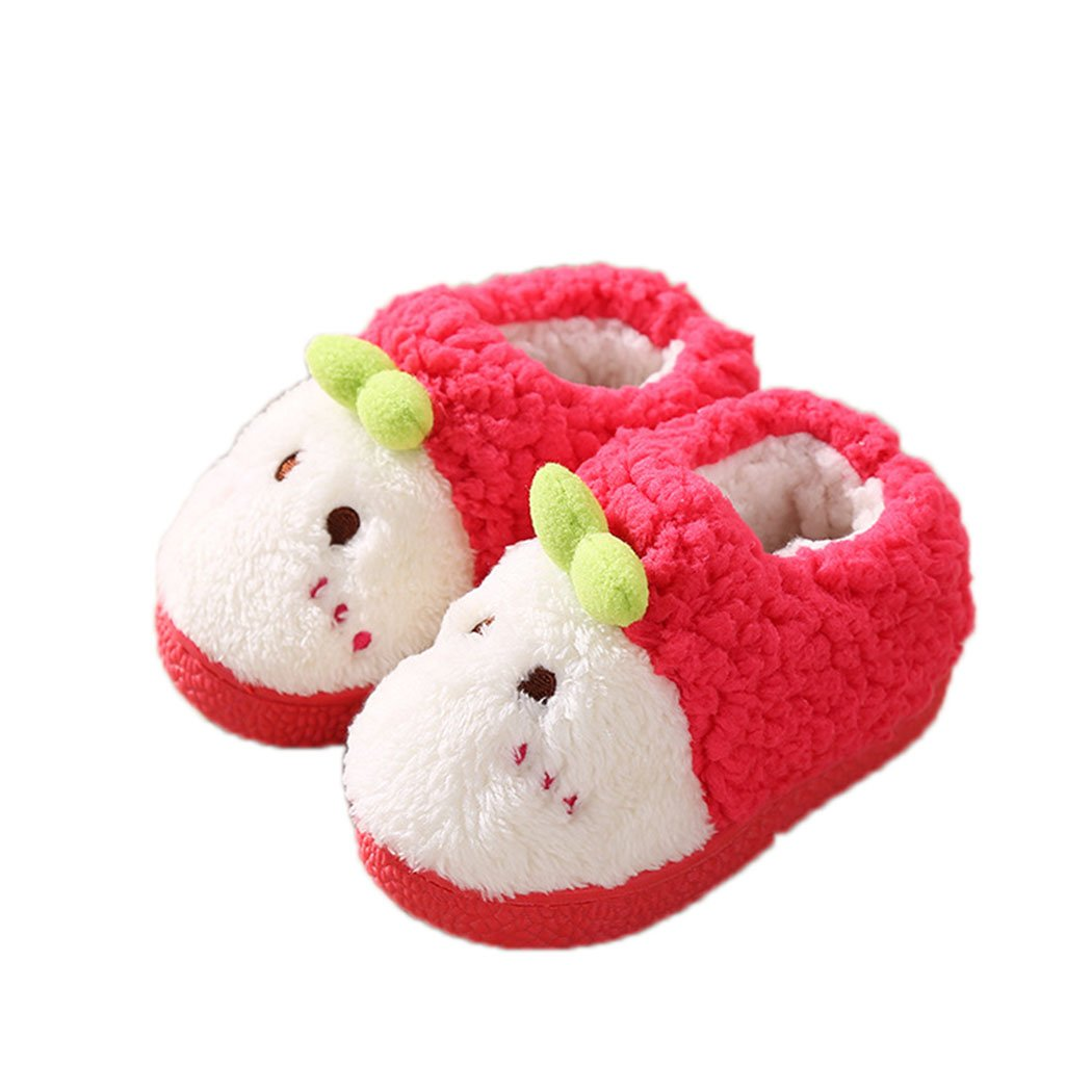 Toddler girl Plush Warm Home Slippers Cartoon sweet cute sprouts