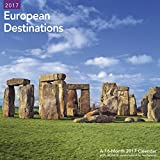 2017 European Destinations Wall 16-month Wall Calendar