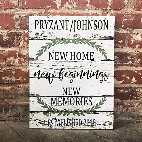 (New Home Beginnigs, Memories, Custom Home Decor, Rustic Country Decor, Family Canvas, Perfect Housewarming Gift)
