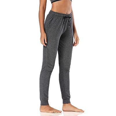 "Safort 28""/30""/32""/34"" Inseam Tall Regular Women Casual Sweatpants, 100% Cotton Jogger Pants, 3 Pockets at Women's Clothing store"