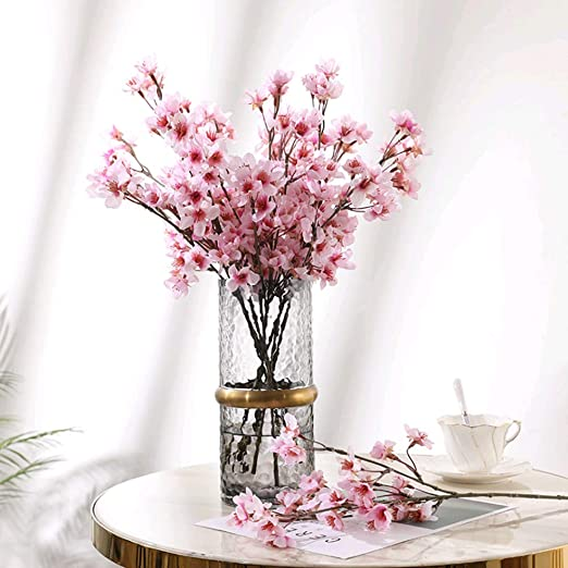 Artificial Cherry Blossom Branch Fake Silk Flower Wedding Party Table Decoration