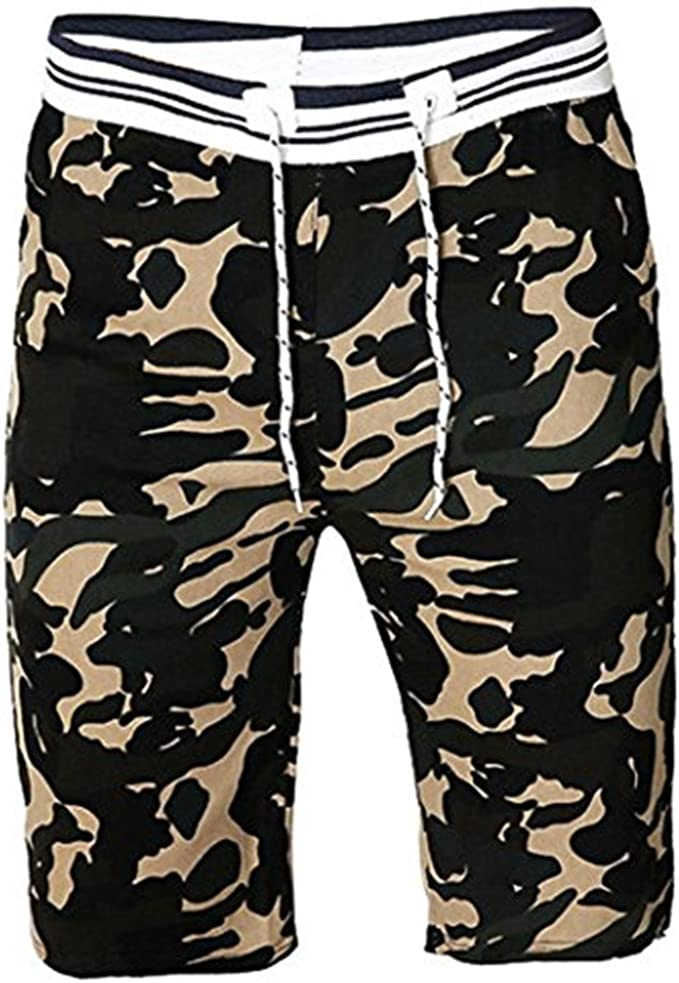 Ximandi Mens Cargo Shorts Military Camouflage Cotton Loose Work Casual Pants