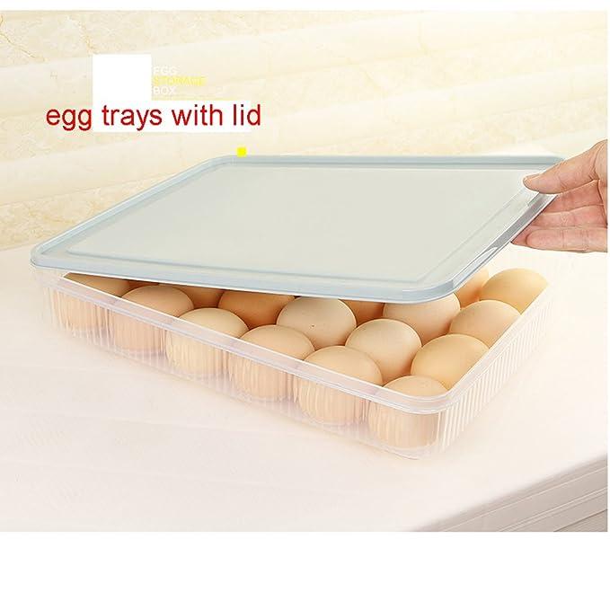 Soporte para huevos, aiyoo frigorífico huevo bandeja soporte ...