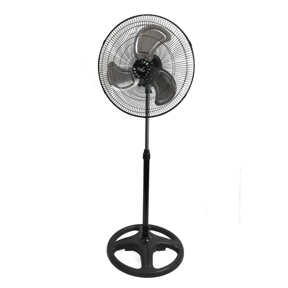 Vie Air 18'' Industrial Heavy Duty Pedestal Powerful and Quiet Oscillating Metal Stand Fan