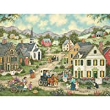 Bits and Pieces - 300 Piece Jigsaw Puzzle - May Flowers, Nostalgic Spring - by Artist Bonnie White - 300 pc Jigsaw