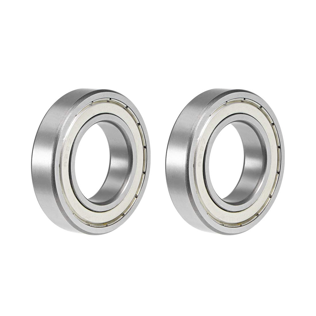 uxcell R22ZZ Deep Groove Ball Bearing 1-3//8x2-1//2x9//16 Double Shielded Chrome Steel Bearings 2-Pack
