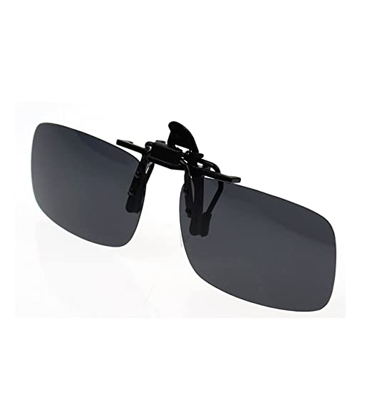52e8102b7902b Zando Polarized Clip-on Flip Up Metal Clip Sunglasses Lenses Glasses  Unbreakable Driving Fishing Outdoor