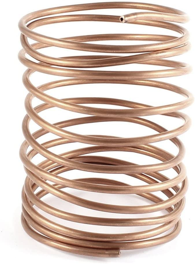 Nxtop 3.2M 10.5Ft Long 3mm Dia Copper Tone Refrigeration Coiled Tubing Coil