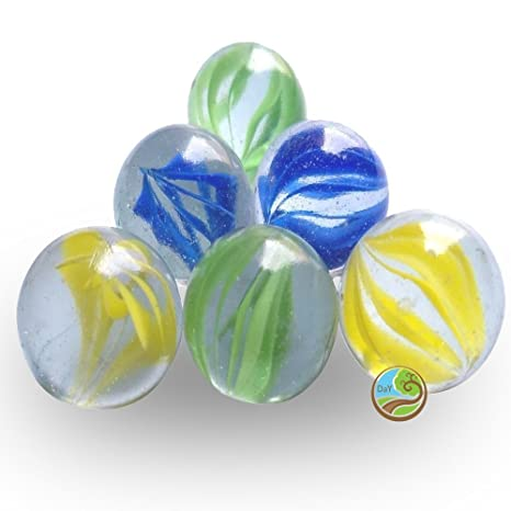 Buy Day Decorative Glass Marble Big Ball Stones Multi Color
