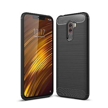 LAGUI Funda Xiaomi Pocophone F1, Carcasa Protectora Elegante de Ultrafino Flexible TPU, Todo Incluido Anti-Arañazos Anti-Huella Dactilar a Prueba de ...