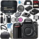 Nikon D750 DSLR Camera 1543 AF-S 50mm f/1.8G Lens 2199 + 58mm 3 Piece Filter Kit + Carrying Case + 256GB SDXC Card + Card Reader + Professional 160 LED Video Light Studio Series Bundle