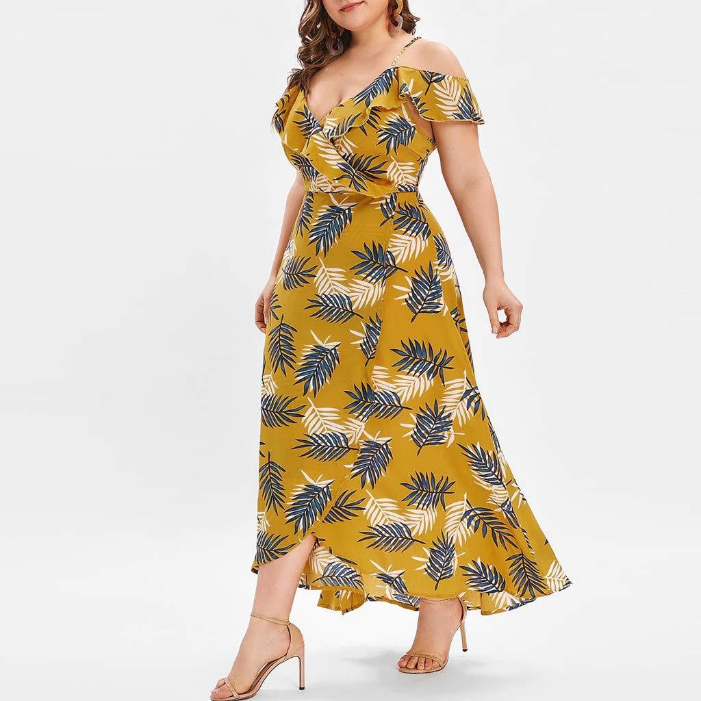 Vestido Largo Mujer Talla Grande Moda Top Falda para Fiesta ...