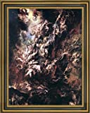"Peter Paul Rubens The Fall of the Damned - 18.5"" x 24.5"" Framed Premium Canvas Print"