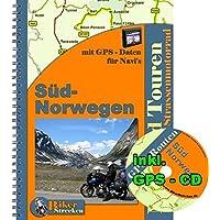 2 Wochen durch Süd - Norwegen Motorradtour (inkl. GPS NAVI Roten auf CD ): Reiseführer / Motorradtour für Süd - Norwegen mit einer CD für Navi - Routen