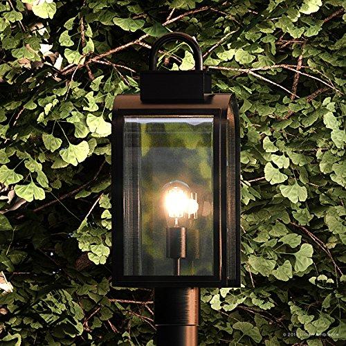 Luxury Art Deco Outdoor Post/Pier Light, Medium Size: 18.625