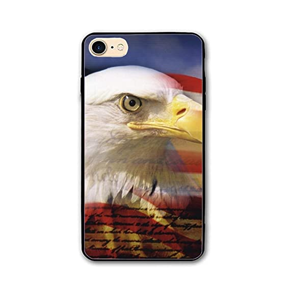 Amazon Com Iphone 7 8 Case American Flag Eagle Wallpaper Hard Ultra