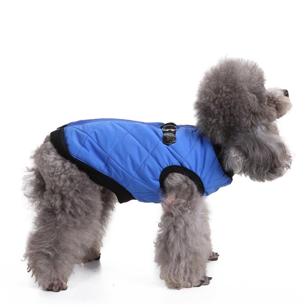 L-Peach Haustier Kleidung Hundemantel Einstellbar Hund Katze Jacke Atmungsaktiv und Wasserabweisend Winterjacke Warm Regenmantel für Klein Mittlere Hunde