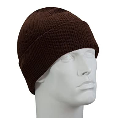 d6ce785f913 Brown Thinsulate Flex Ski Hat - 100 Gram - Single Piece - Made in USA