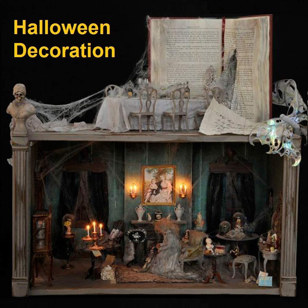 para Chimenea Cortina Negra para Puerta, ara/ña Carnaval BUZIFU Juego de decoraci/ón para Halloween con 30 ara/ñas Fiestas Terror Puerta decoraci/ón Halloween