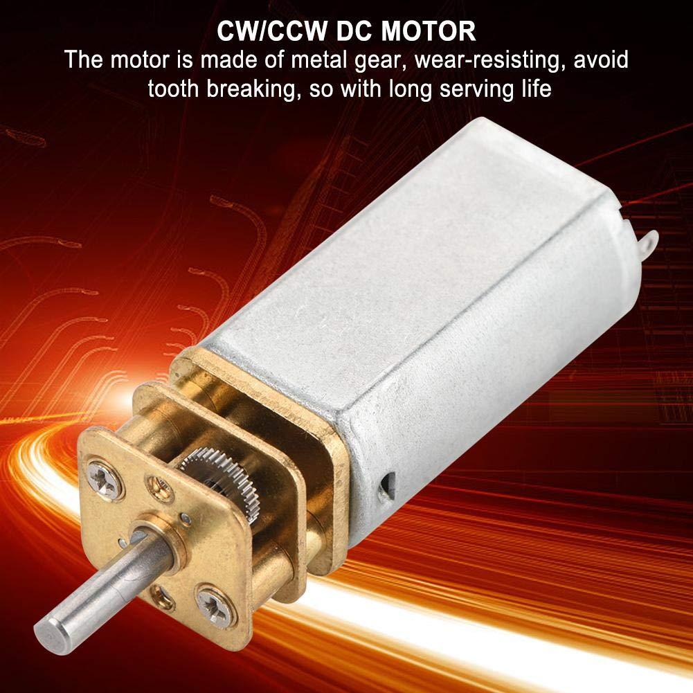 DC12V GA13YN050 Micro DC Gear Motor Large Torque Adjustable Speed Motor with Bracket with Hard Mechanical Characteristics 1# Zetiling Micro DC Gear Motor